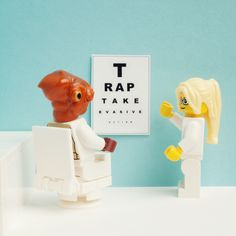 """Eye Test /by Balakov  I have no explanation for why """"it's a trap"""" will always make me laugh."""