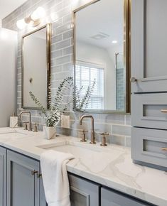 Design, determination, and DIY opinions for remodeling your master bathroom on a budget. Awesome DIY home projects, motivation for your house, and cheap remodeling ideas when it comes to master bathroom. Guest Bathrooms, Bathroom Small, Basement Bathroom, Light Grey Bathrooms, Modern Bathrooms, Designs For Small Bathrooms, Master Bathroom Designs, Master Bedroom Bathroom, Modern Master Bathroom