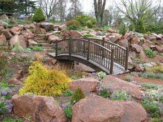 cute garden bridge