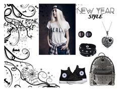 """""""Untitled #30"""" by minela-fehric ❤ liked on Polyvore featuring Converse, MCM, Links of London, Bling Jewelry, women's clothing, women's fashion, women, female, woman and misses"""