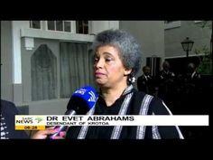 Dr. Evet Abrahams, a descendant of Krotoa on her honour