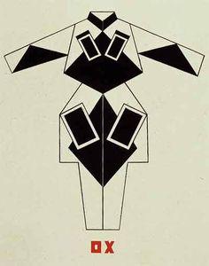 Варвара Степанова  Эскиз костюма к постановке «Смерть Тарелкина», 1922