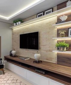 72 Contemporary & Modern Living Room Design Ideas For 2019 liv. units in living room modern 72 Contemporary & Modern Living Room Design Ideas For 2019 liv. Modern Contemporary Living Room, Living Room Modern, Home Living Room, Contemporary Design, Modern Tv Room, Tv Living Rooms, Tv Wall Ideas Living Room, Living Room Walls, Wall Cabinets Living Room
