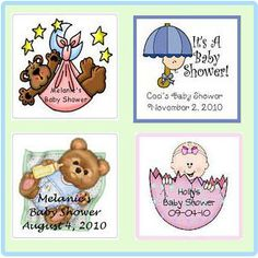 Baby Shower Personalized Labels