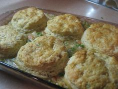 Barefoot Contessa's Chicken Stew with Biscuits. This recipe is awesome, but lots of work. I often do just the biscuits without the stew. They come out dense, but that's the way my boys like it!