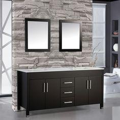 "Found it at Wayfair - Monaco 84"" Double Sink Bathroom Vanity Set with Mirrors"