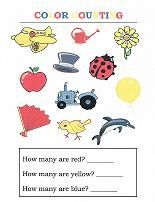 Lots of worksheets for learning colors: color sorting, color matching, word search, printable match game, make a color booklet, and more!