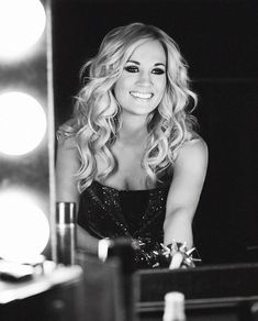 Carrie Underwood. Beautiful hair and make up...shes gorgeous.