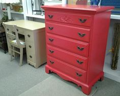 Watermelon Dresser, purchased and customized here at the shop