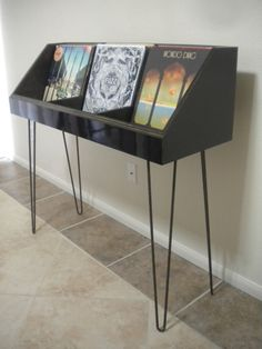 fully customizable vinyl record display and by DKVinylDisplays More