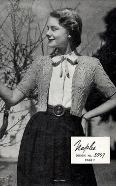 1940s Vintage Knitting Patterns Women's Sweaters by BessieAndMaive, $10.00