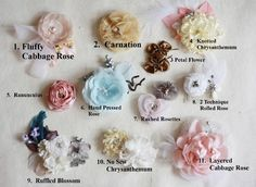 Fabric Flower Tutorials -  Any 4 for the Price of 3 Tutorials Bundle  With Diy Accessories and Newborn and Baby Headband Tutorial. $23.82, via Etsy.