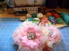 Handmade Burlap Flowers - YouTube