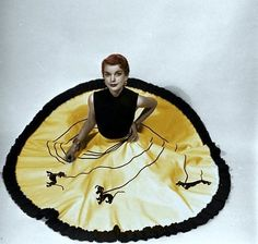 POODLE SKIRT YELLOW WITH TRIM FELT The Term Gypsy