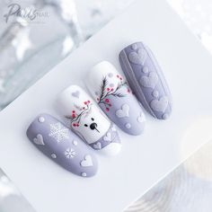 Amazing winter holiday nails❄ Visit the article to find out more. Amazing winter holiday nails❄ Visit the article to find out . Christmas Gel Nails, Christmas Nail Art, Holiday Nails, Fall Nails, Summer Nails, Xmas Nail Designs, Acrylic Nail Designs, Nail Art Designs, Nails Design