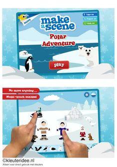 Polar adventure, leuke leerzame app voor jongste en oudste kleuters, voor beschrijving zie kleuteridee.nl , de kinderen leren veel over de dieren op de Noordpool en Zuidpool