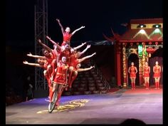 Chinese circus. The show of girl gymnasts on bicycles. Китайский цирк. - YouTube