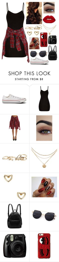 """Untitled #965"" by a-angel ❤ liked on Polyvore featuring Converse, Lime Crime, GUESS, Shashi, STELLA McCARTNEY, Fujifilm and Chiara Ferragni"