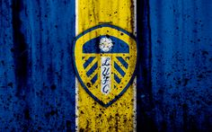 Download wallpapers 4k, FC Leeds United, grunge, EFL Championship, art, soccer, football club, England, Leeds United, logo, stone texture, Leeds United FC