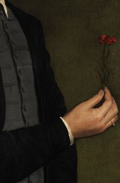 Pier Francesco Foschi - Giovane con un garofano Carnations, Just Giving, Illustration Art, Detail, Artwork, Flowers, Plants, Painting, Art