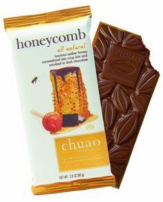 Chuao Chocolatier Honeycomb Dark Chocolate Bar, 2.8-Ounces Bars (Pack of 4)