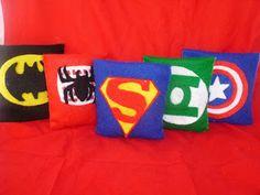 Super Hero Bean bag toss - strength and accuracy?