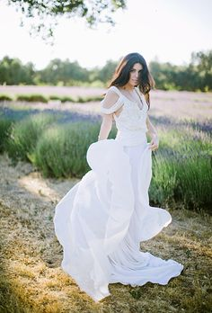 Lindee Daniel design- eco wedding dress, peace silk, organic, natural dye
