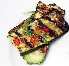 Grilled Zucchini with Mint & Red Chili. #goopmake