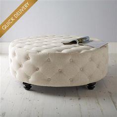 Latimer Circular Buttoned Footstool