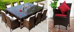 szuper nagy méretű étkező szett, óriás méretű asztallal és 10 székkel.. nagy családoknak és nagy társaságoknak.. kerti összejövetelekre http://www.kerti-butor.com/bali_kertibutor