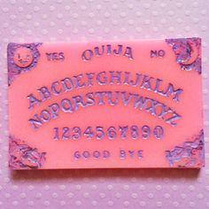 Pastel Pink Ouija board necklace Pastel Goth by JinxAndCurses Pastel Grunge, Soft Grunge, Pastel Goth, Pastel Pink, Witch Aesthetic, Pink Aesthetic, Photo Wall Collage, Creepy Cute, Kawaii