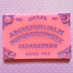 Pastel Pink Ouija board necklace Pastel Goth by JinxAndCurses