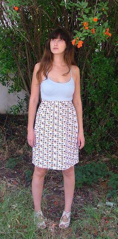 Patten Skirt.Women Skirt.Pencil Skirt .Skirt.Size SM by shpirulina