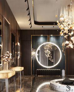 Bathroom Design Luxury, Luxury Interior Design, Interior Architecture, Neoclassical Interior Design, Home Room Design, Living Room Designs, House Design, Modern Chinese Interior, Contemporary Interior