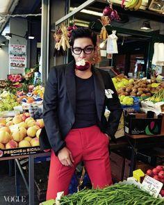 BIGBANG TOP、チェ·スンヒョンと一緒にミラノの秋1 <VOGUE> 2014年11月号