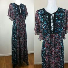 Shop Women's Guess size XS Dresses at a discounted price at Poshmark. Description: This dress is beautiful, my photos don't do it justice. Guess boho inspired Maxi dress with lace up neckline, butterfly sleeves and two front slits making it an ideal choice for day or night. It is sheer with a short black slip beneath it. 100% polyester. I bought this dress today at big Guess store labor day sale and tags were cut to prevent returns. But it is brand new with tags.. Sold by loveclot...