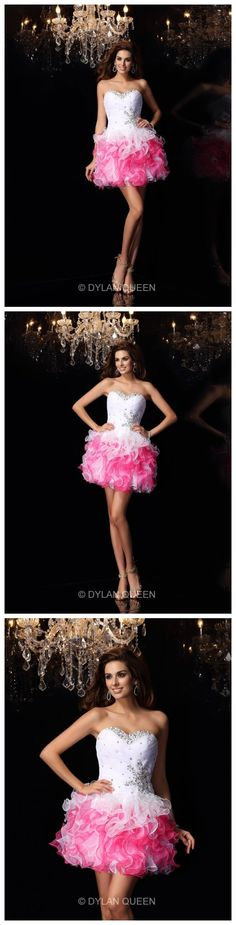 Short pink prom dress.How it's so beautiful.That's right?