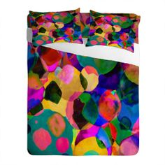 Amy Sia Rainbow Spot Sheet Set | DENY Designs Home Accessories
