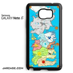 Game Of Thrones Map In Colour Phone case for samsung galaxy note 5 and another devices