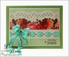 Darsie Bruno: Crafting with Darsie - Birthday Wishes... - 8/3/14 (Spellbinders: A@ Bracket Borders One/ Imperial Border Die)