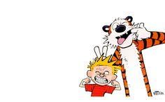 Calvin et Hobbes Making Faces impression Calvin Y Hobbes, Calvin And Hobbes Wallpaper, Snoopy Wallpaper, Doodle Characters, Fictional Characters, Charlie Brown Halloween, Herve, A Comics, Abstract Pattern
