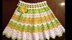 Ideas de falda circular tejida a crochet
