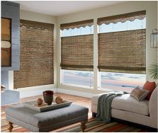 Bring some natural texture indoors with these Bottom/Up Top/Down Natural Bamboo shades. They have an optional valance and are Roman Style.