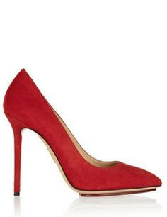 CHARLOTTE OLYMPIA Encore Monroe Suede Pumps