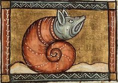 medieval miniature of a snail Medieval Life, Medieval Art, Medieval Symbols, Medieval Manuscript, Illuminated Manuscript, Medieval Reactions, Medieval Drawings, Dragons, Bizarre