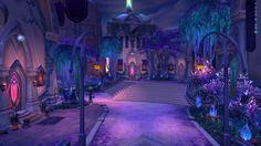The Woodlands courtyard World Of Warcraft, Warcraft Art, Episode Interactive Backgrounds, Episode Backgrounds, World Of Fantasy, Fantasy Places, Environment Concept Art, Environment Design, Fantasy Landscape