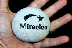3 Inch MIRACLES Engraved Etched WEDDING Stone Rock by Studio569, $14.99