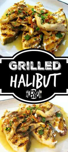 Sometimes it seems like fish can be tricky to prepare and cook, but the truth is, much like this Grilled Halibut Recipe, it really couldn't be easier. Be sure to watch the short video tutorial. Grilled Halibut Recipes, Grilled Seafood, Salmon Recipes, Tilapia Recipes, Grilled Salmon, Seafood Dishes, Seafood Recipes, Clam Recipes, Grilling Recipes
