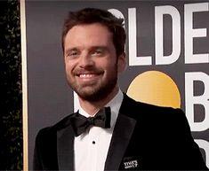 Sebastian Stan smile gifs 1/2