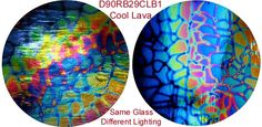 Dichroic Fused Glass Plates....two views same plate.........Gotta Love this!